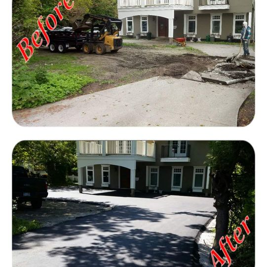 Before/after paving