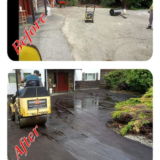 Residential driveway - before/after